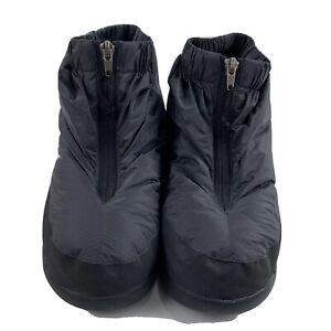 Mountain Hardwear Down Slippers Booties Ankle Blue House Shoes XS Zipper