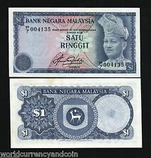 MALAYSIA $1 1981 KING TIGER UNC MALAY WORLD CURRENCY MONEY BILL BANKNOTE FreeShp