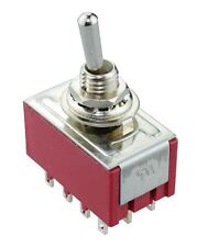 On-On Mini Miniature Toggle Switch 4PDT