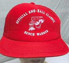Official Sno-Ball Classic Baseball Bench Warmer Snapback VTG Baseball Cap Hat