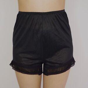 Vintage Black Nylon Bloomers Pants Shorts Size 6 ILGWU Union Made