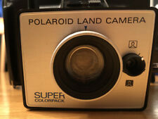 Vintage 1971 Polaroid Land Camera Super Color Pack w/ Case & Advertising Papers