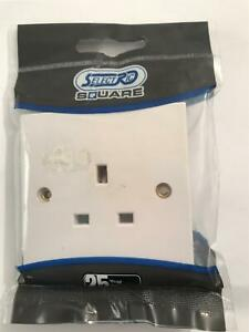 Selectric Square 13amp 1 Gang Unswitched Socket LG9143
