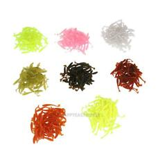 50 Pcs Mixed Soft Plastic Lures Fishing Bait Tail Capuchin Maggots Soft Tackle