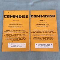 TRS-80 Commdisk 2.9 Disk Communication Utility User Manual Book Modem 1981 VTG