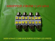 4 PCS 6410/6418 36MM 12 SMD HIGH POWER LED BULB FESTOON (WHITE)