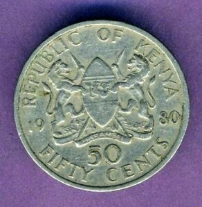 Kenya 50 cents 1980 Combined Shipping
