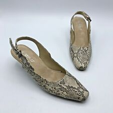 0c6be2f11aa Aerosoles Rudiment Women Faux Snake Skin Slingback Heel Shoe Size 6M Pre  Owned