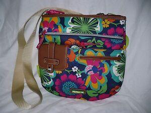 Lily Bloom Camilla Crossbody Bag Floral Fiesta New Green Blue Pink Orange