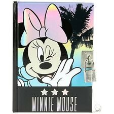 OFFICIAL Disney Minnie Mouse con Serratura Notebook Giornale Diario-lucchetto chiavi A6