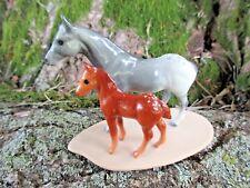 Hagen Renaker Miniature Appaloosa Mare & Foal Porcelain Horse Figurine on Base