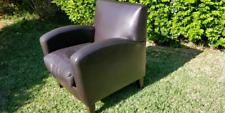 Leather single armchair (club chair)