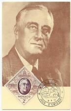 1956 Monaco FDR maxi maximum card - Sc 355 - cover