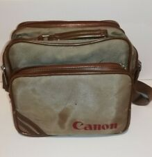 Vintage Canon Camera Shoulder Bag Carry Case Hold-all Padded Compartments