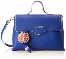 Love Moschino Borsa Small Grain PU Blu - Donna (blue) 10x21x32 cm (b x (o9v)