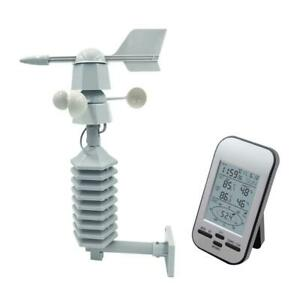 Wireless Weather Station Clock Two Mount LCD Wind Speed Direction Sensor UK