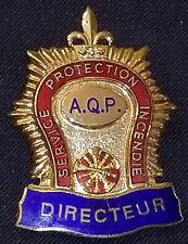 FIREFIGHTER - SERVICE PROTECTION INCENDIE - A.Q.P. - DIRECTEUR - BADGE