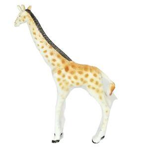 """Giraffe Brown White Figure Plastic Rubber Animal Figurine 5"""""""