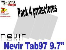 "Pack 4 Protectores de pantalla para Tablet NEVIR TAB97 9.7"" UNIVERSAL TAB 97"