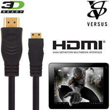 Versus Touchpad 7, 9.7, 10 Android Tablet PC HDMI Mini to HDMI TV 5m Cable Cord