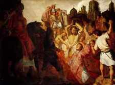 Rembrandt The Stoning Of St Stephen 1625 A4 Print