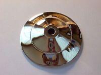 "3"" NICKEL FINISH BRASS VASE CAP LAMP PART NEW 56567J"