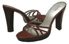 GUESS flight Brown Leather Kid Women Sandal Size 9 M