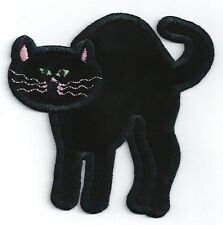 Cat - Black Cat - Soft/Embroidered Iron On Applique Patch