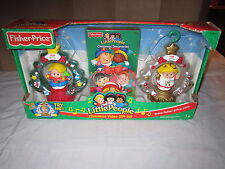 2003 Fisher Price Little People Holiday Christmas Video Gift set Tree Ornament