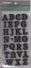 TPC Rubber Cling Stamps UPPERCASE SERIF ALPHABET