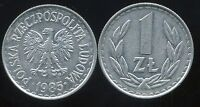 POLOGNE  1 zloty  1985  ( bis )