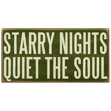 """""""Primitives by Kathy"""" Box Sign - STARRY NIGHTS / QUIET SOUL - #PK-BX-19173"""
