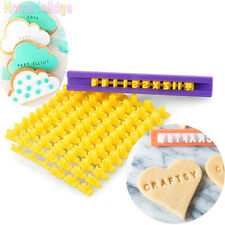 Alphabet Letter Cake Mould Biscuit Cookie Cutter Press Stamp Embosser Mold Tools