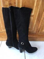Jones The Bootmaker Black Suede Knee Boots Theodora UK 6 (narrow)