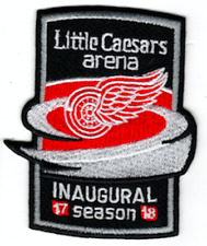 DETROIT RED WINGS PATCH INAUGURAL SEASON LITTLE CAESARS ZETTERBERG PUCK STYLE