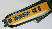 New 6 outlet Heavy duty Metal Surge Protector Power Strip w 6ft cord Wall Mount