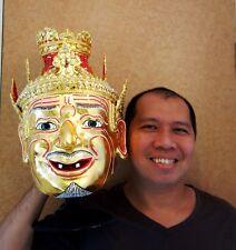 Hermit Lersi Anchoret Mask Khon Thai Handmade Ceremony Ramayana Costume New