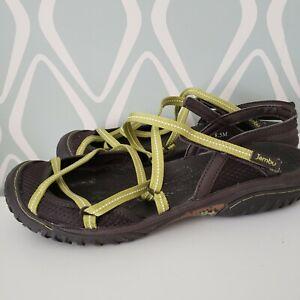 JAMBU All Terra Design DIVA Green Closed Toe Sport Sandals Womens Shoes 8.5