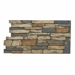 Faux Stone Wall Panels - Deep Wide Stacked - BRECKENRIDGE
