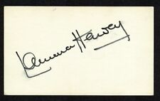 Laurence Harvey {1928-1973} Signed 3x5 Index Card Actor Manchurian Candidate COA