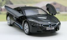 Black BMW i8 Personalised Plate Gift Boys Dad Toy Model Car Birthday Present New