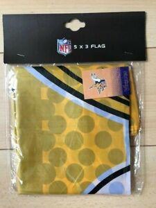 NFL American Football Minnesota Vikings  5' x 3' Team Logo Fade Flag
