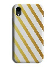 White and Golden Stripes On Phone Case Cover Stripes Pattern Gold Stylish i813