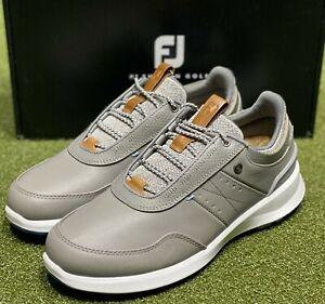 FootJoy Stratos Men's Leather Golf Shoes 50042 Grey 11 Medium (D) NEW #86086