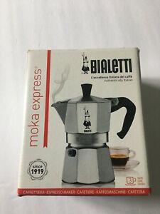 Bialetti Moka Express Italian Stovetop 3 Cup Espresso Coffee Maker, Silver