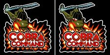 Cobra Command Arcade Side Art Panels Cabinet Graphics Stickers Reproduction