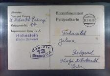 Camp Stalag IVA Hohnstein 1943 POW Prisoner of War Kriegsgefangenenpost K13