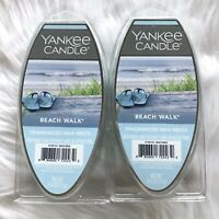 2 Yankee Candle Beach Walk Fragranced Wax Melts Refreshing Saltwater Sea Musk