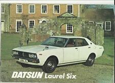 DATSUN LAUREL SIX SALES BROCHURE 1977