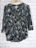 MAEVE BY ANTHROPOLOGIE Top Sz US4 [AU8] Black, white floral print